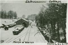 000917 Hatch Beauchamp Railway Station in winter 1908