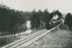 000918 Train from Taunton approaching Hatch Tunnel 1907