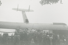 000338 Crashed Vickers Vimy bomber at Jordans Road, Ilminster c1936