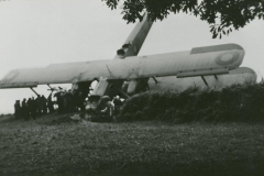 002380 Crashed Vickers Vimy bomber at Jordans Road, Ilminster c1936