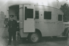 002470 Ilminster's ambulance, registration EYC 312 with Arthur Evans on duty at the Rec, Ilminster 1939