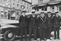002601 Red Cross team from Ilminster before leaving for Coronation duty at Marble Arch, London featuring Graham Street, Ron Baker, Doug Seaward, John Baker, Frank Keitch 1953