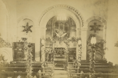 002675 Interior of Ashill Church c1900