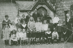 003757 Pupils at the village school, Ashill c1913