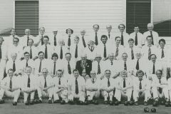 000589 Ilminster Bowling Club members c1975