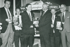 002806 Prize presentation at Ilminster Bowling Club by brewery rep. Frank Maddocks c1980