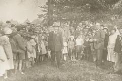 000317 Planting of tree in Ilminster by Mr Guppy, oldest inhabitant to mark George V's Silver Jubillee 1935