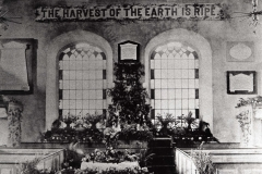 000091 Unitarian Church showing Harvest Festival celebrations c1900
