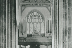 002326 The nave St Mary's Minster Church, looking west showing the organ in the gallery 1930