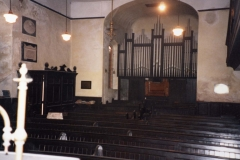 002501 Unitarian Chapel view from reading desk looking at the enterance porch 1992