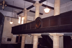 002502 Unitarian Chapel view of the gallery looking north west 1992