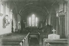 002529 Interior of Broadway Church before electricity c1920