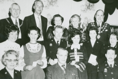 003282 Group at a Red Cross presentation, Ilminster showing Tom Clapp, George Hallet, Betty Page and Gerald Guick c1971