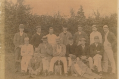 000204 Ilminster Cricket Club featuring C A Clarke, Heaseman, Naish, Heap, Parker, Macey, Cooper, A Wood, E H Wainwright, J R Paull, H A Bowden, A B F Cole, F Charrington, H P Low, J B Mellish 1893