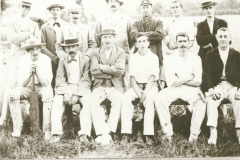 000206 Ilminster Cricket Club featuring H F Bartte, David Feaver, Charlie Hooper, Tom Haycraft, J C davie, Hector Hutchings, Nick Hunt, Bill Brooks, B Turville, Rob Williams, B Prentice c1930
