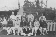 003194 Ilminster Cricket Club in Swan Mead featuring Bob Wheadon c1910