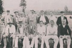 003195 Ilminster Cricket Club featuring J R Paul, Bob Wheadon c1905