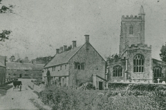 000731 Church and almshouses c1900