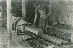 000809 Jim Pearce making bricks c1936