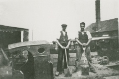000813 Willie Anning and Bert Bealey on a lorry at Donyatt Pottery 1936