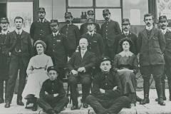 000584 Postal and telegraph staff c1913