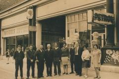002166 Staff of Marshalsea's Garage, Graham Baker, Bob Hodges, Charlie Gummer, John Hawkins, Daisy Baker, Percy Garrett, Mr Shaw, Estelle Coles, Jean Hawkins c1970