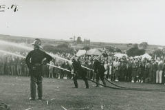 002434  Firemen during fire exercise at Ilminster 'At Home' event 1939