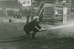 002435  Firemen during fire exercise at Ilminster 'At Home' event 1939