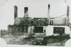 002517 Fire gutted remains of Poulet Arms at Lopen Head c1948