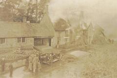 003447 Fire at Smithy House, Whitelackington c1935