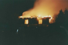 003103 Summerlands House, Brewery Lane, Ilminster on fire 1982