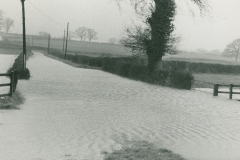 000424 Flooding on Donyatt to Crock Street road c1950