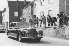 000117 The Queen Mother driving past Strawberry Bank c1970
