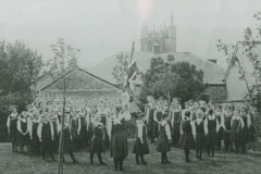 000702 Empire Day ceremony, Ilminster Girls Grammar School 1912