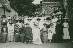 000851 Group attending Rededication Service, Ile Abbotts Church 1911
