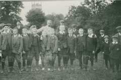 000853 Children who took part in three-legged race 1911