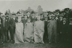 000854 Children who took part in sack race 1911