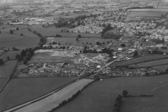 000348 Aerial view looking north west,  Listers Hill can clearly be seen with the development of Springfield 1970