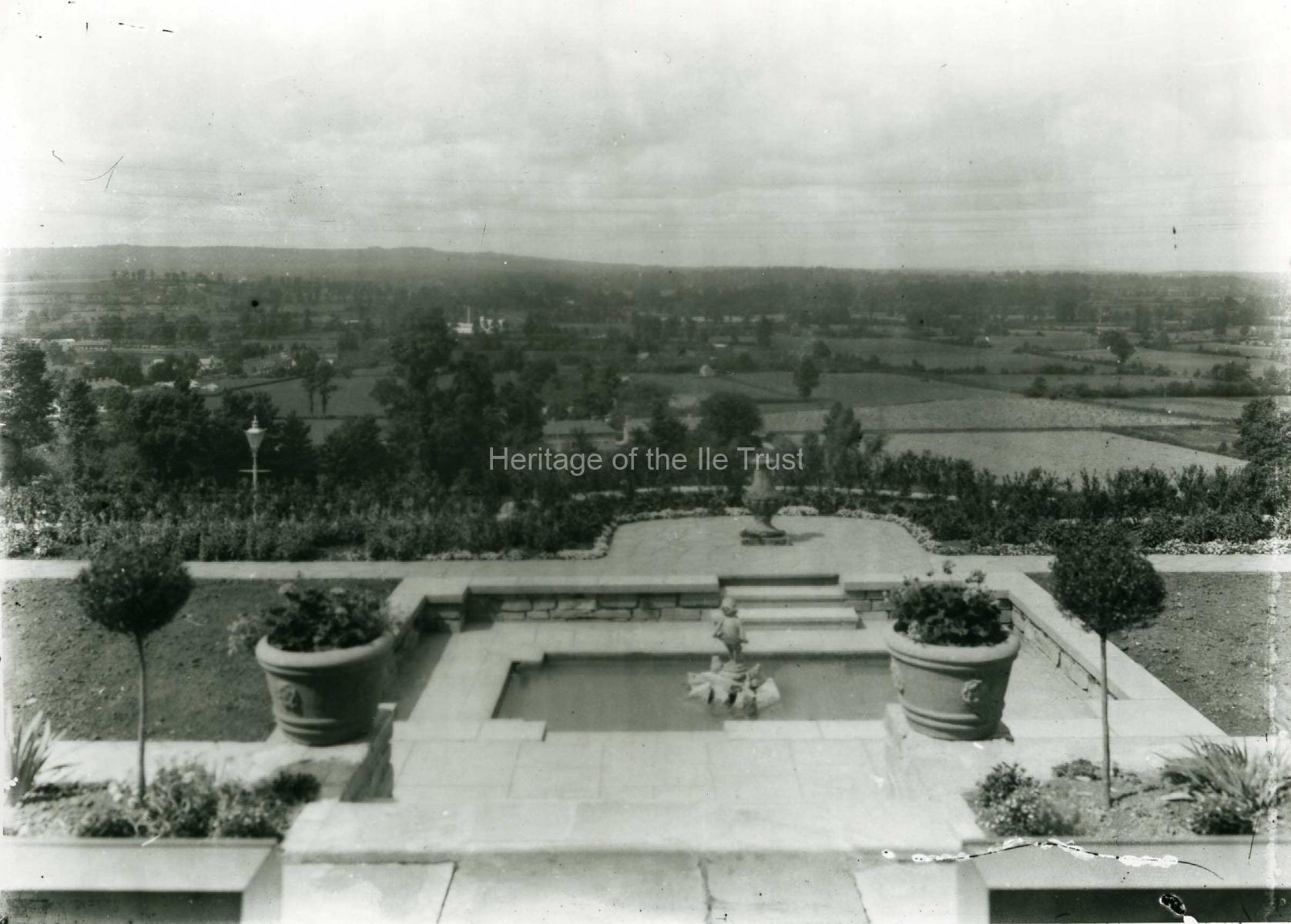 003612 Front garden of 12 The Beacon looking West 1937