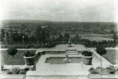 003612 Front garden of 12 The Beacon looking West 1937