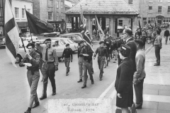 000147 St Georges Day parade passing through The Square, Ilminster 1970