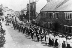 000986 Boy's Brigade in the shool treat parade, Station Road, Ilminster 1908