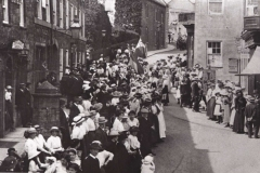 000989 Sunday School Whitsun Parade, North Street, Ilminster c1912