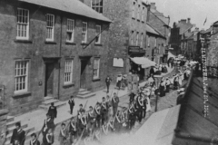 000990 Boys Brigade leading he parade, Silver Street, Ilminster 1906