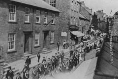 000990 Boys Brigade leading he parade, Silver Street, Ilminster 1906