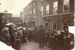 000004 George Hotel showig crowds and brass band c1910