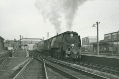 000496 Southern Railway's West Country Class passenger locomotive number 34035, leaving Chard Junction 1962
