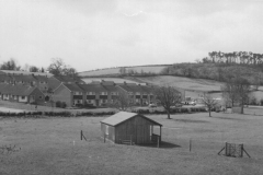 000190 Cricket pavilion at the recreation ground, Ilminster with Herne Hill in the background 1971