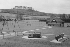 000192 Childrens play area, recreation ground, Ilminster looking towards Herne Hill c1970