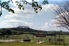000195 Recreation ground, Ilminster showing play ground and Herne Hill 1975